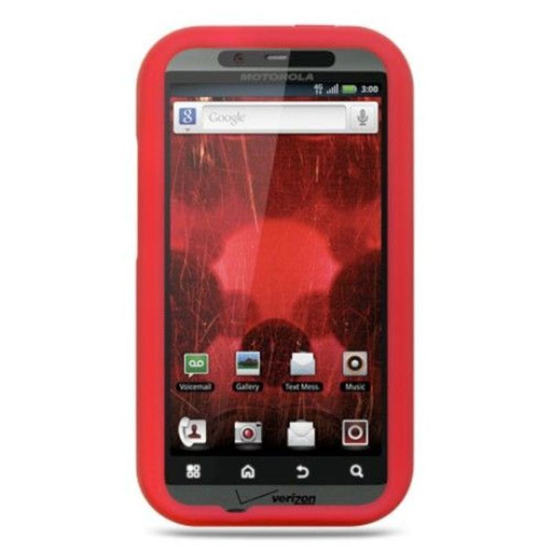 Insten Soft Silicone Skin Rubber Case Cover For Motorola Droid Bionic XT875 Targa #2293162