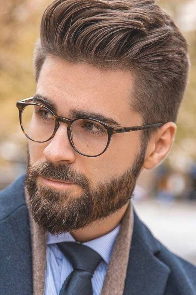 Slicked Back Hair And Beard #hipster #hipsterhaircut # ...