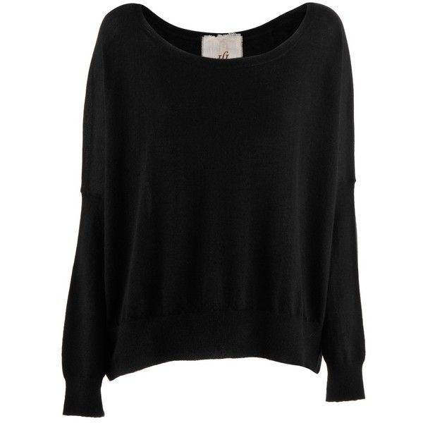 Friendly Hunting Black Cashmere Pullover Mona ($625) ❤ liked on ...