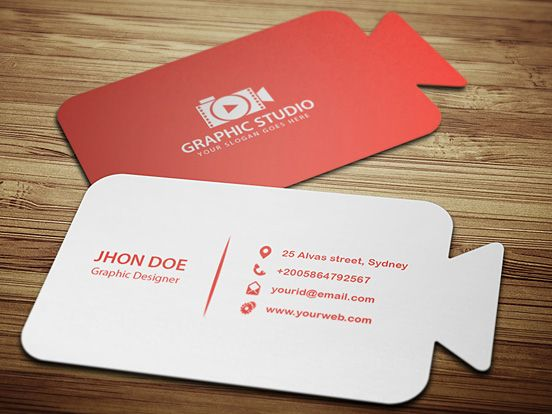 Cinematography Business Cards Business Card Design Business Card Design Inspiration Business Card Inspiration