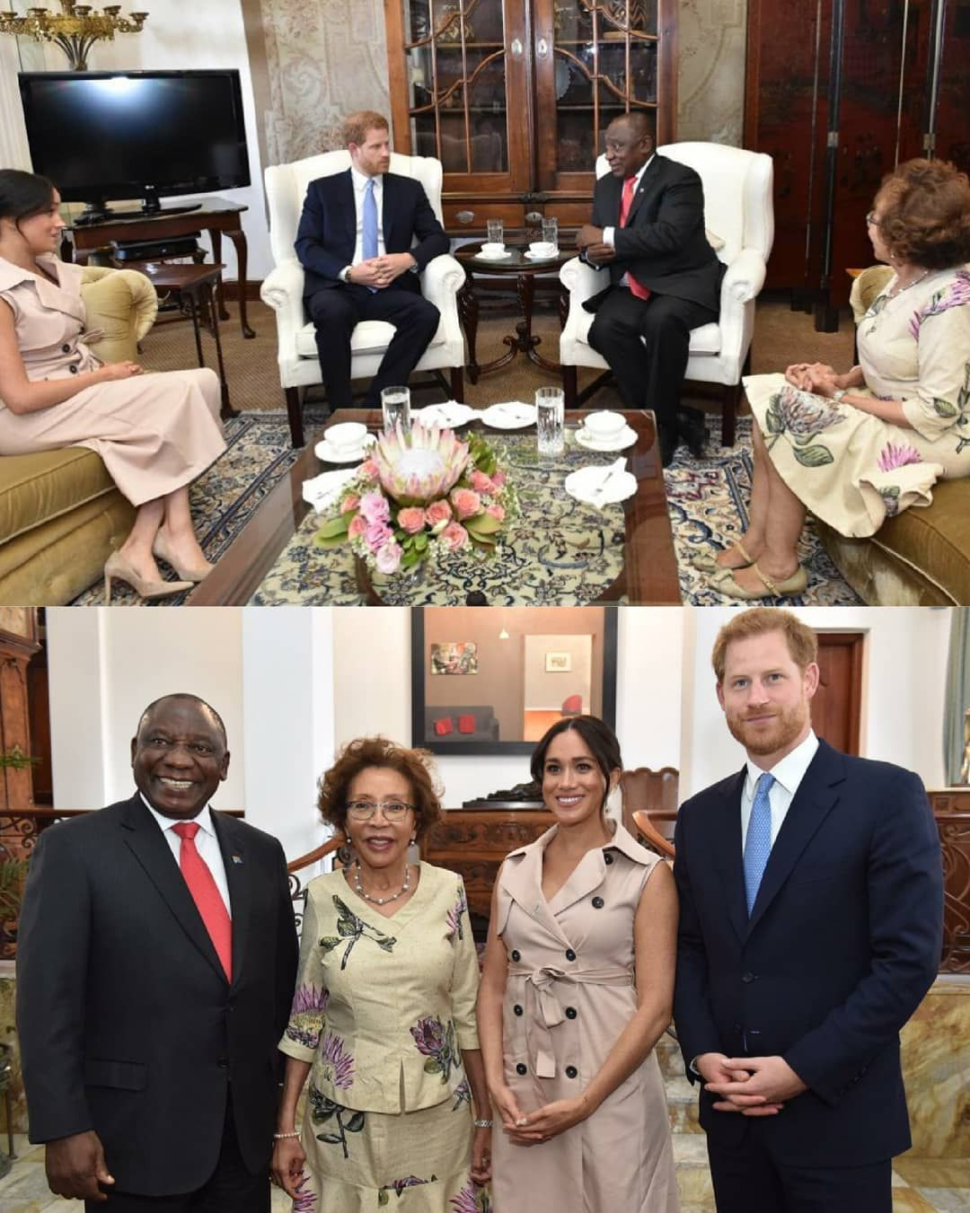 President Cyril Ramaphosa And First Lady Dr Tshepo Motsepe Receive A Courtesy Call From Their Royal Highnesses The Duke And Duchess Of