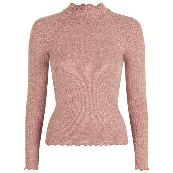 23352fcafcd7f Women s Topshop Lettuce Edge Turtleneck ( 26) ❤ liked on Polyvore featuring  tops