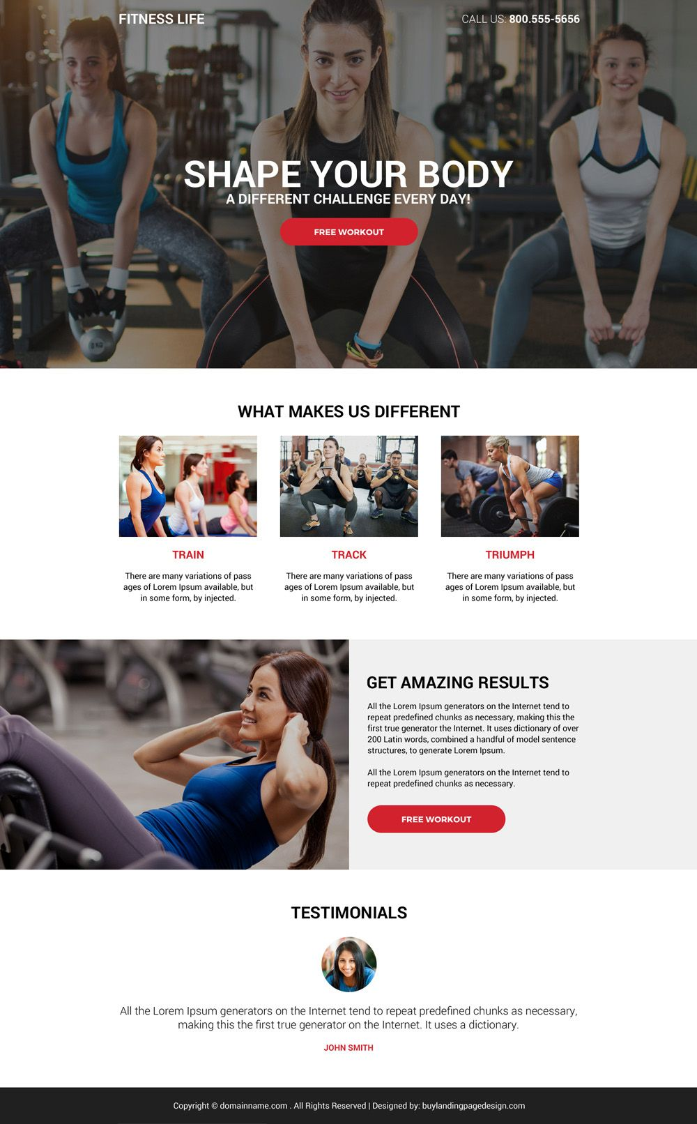 Download The Best Health And Fitness Life Responsive Landing Page Design At An Affordable Price From Https Www Buylandingpagedesign Com Buy Best Health And Fi