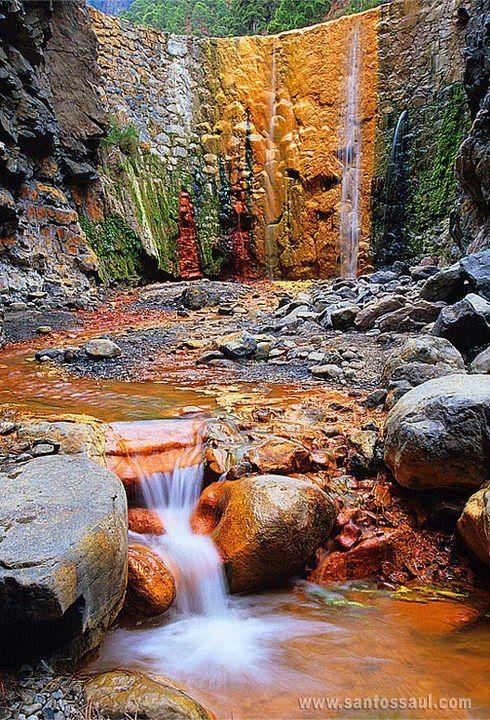 Cascada de Colores, Caldera de Taburiente, La Palma