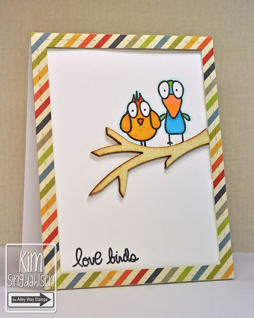 A Bird Brain Anniversary Stamped Cards Inspirational Cards Cards