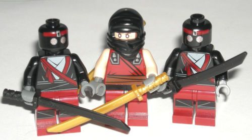 FOOT SOLDIERS ~ Minifigure ~ LEGO Teenage Mutant Ninja Turtles ~ Mint ~ Red