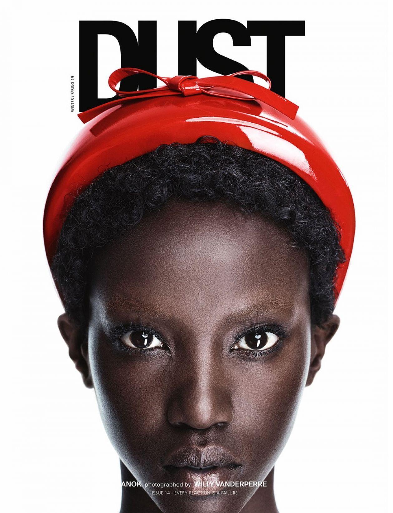 Anok Yai model Magazine photographers, Male magazine