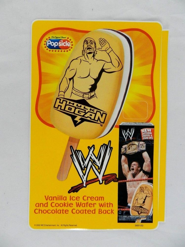 Vintage Good Humor Popsicle Power Wwe Hulk Hogan Ice Cream Bar