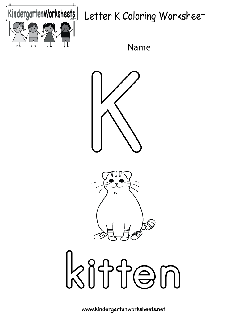 Letter K coloring worksheet for preschoolers or kindergarteners. This would  be a perfect works… | English worksheets for kids, Color worksheets,  Alphabet worksheets