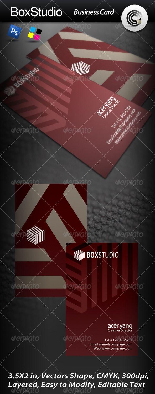Box Studio Business Card Box studio, Business cards, Cards