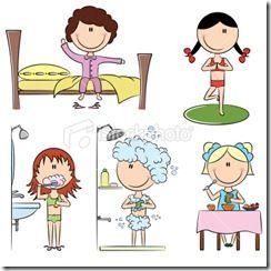 routine enfant planification et m mos pinterest routine. Black Bedroom Furniture Sets. Home Design Ideas