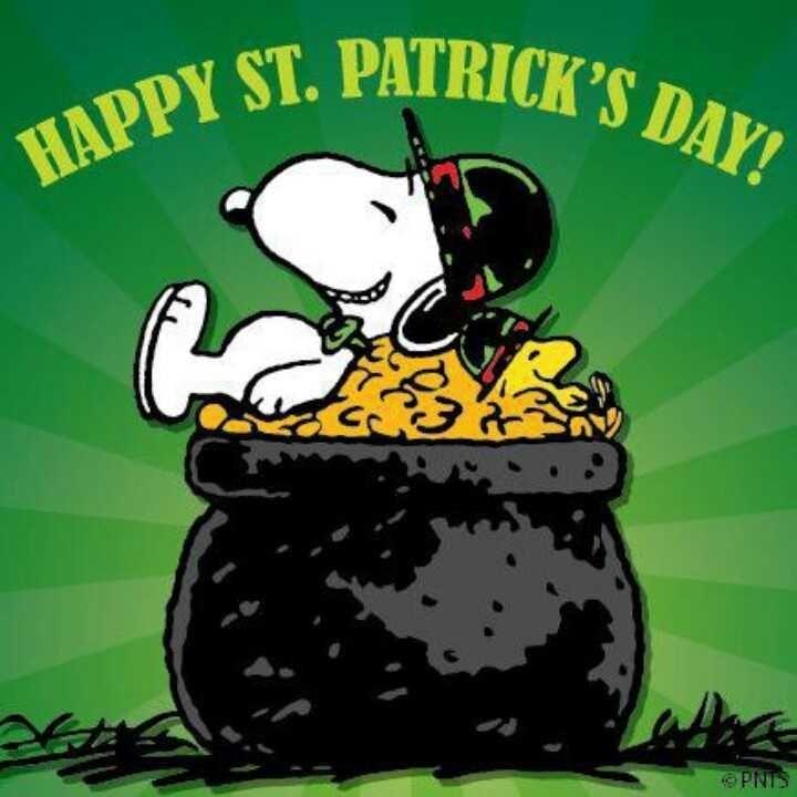 happy st patrick s day snoopy holidays pinterest