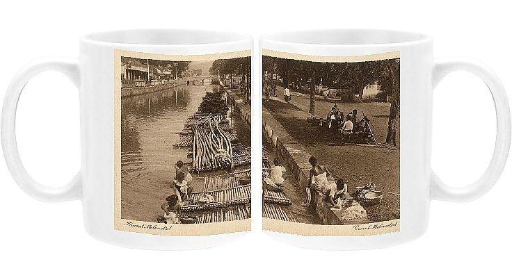 Photo Mug-Indonesia - Java - Jakarta - Molenvliet Canal-11oz White ceramic mug made in the USA