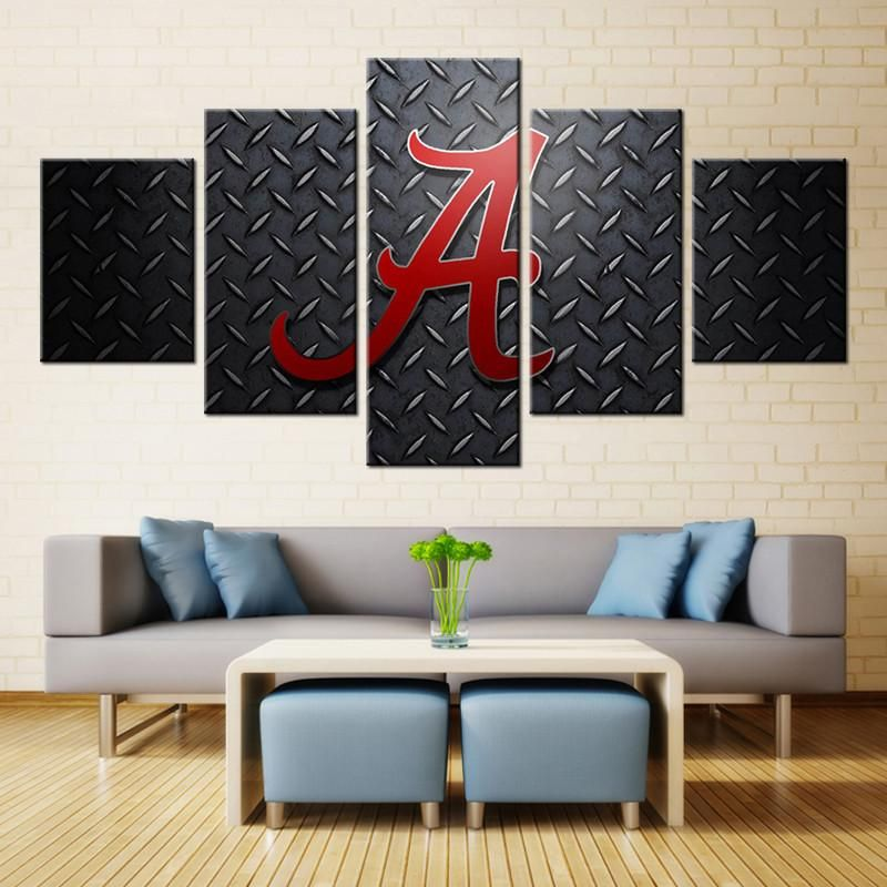 alabama crimson tide canvas wall art picture best funny store