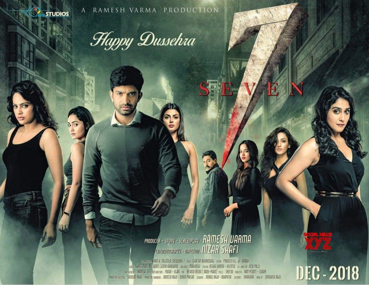 7 Movie Happy Dussehra Poster Social News Xyz Seven Movie Movie Character Posters Seventh