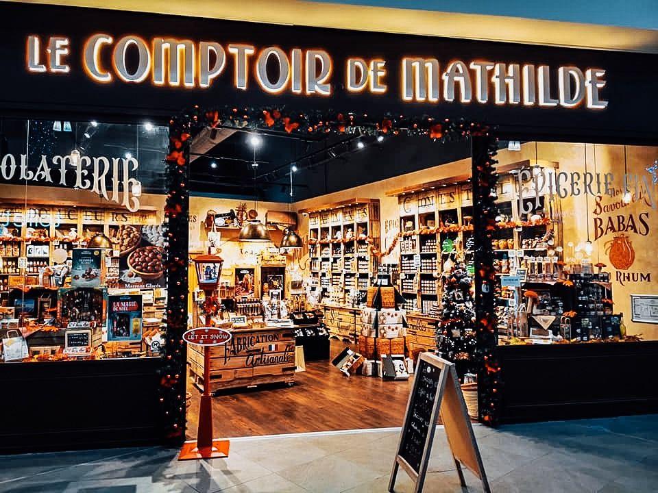 Vous Etes Gourmand Decouvrez Le Comptoir De Mathilde Dans La Galerie D Hyper U Agde Une Veritable Caverne Le Comptoir De Mathilde Comptoir Design De Magasin