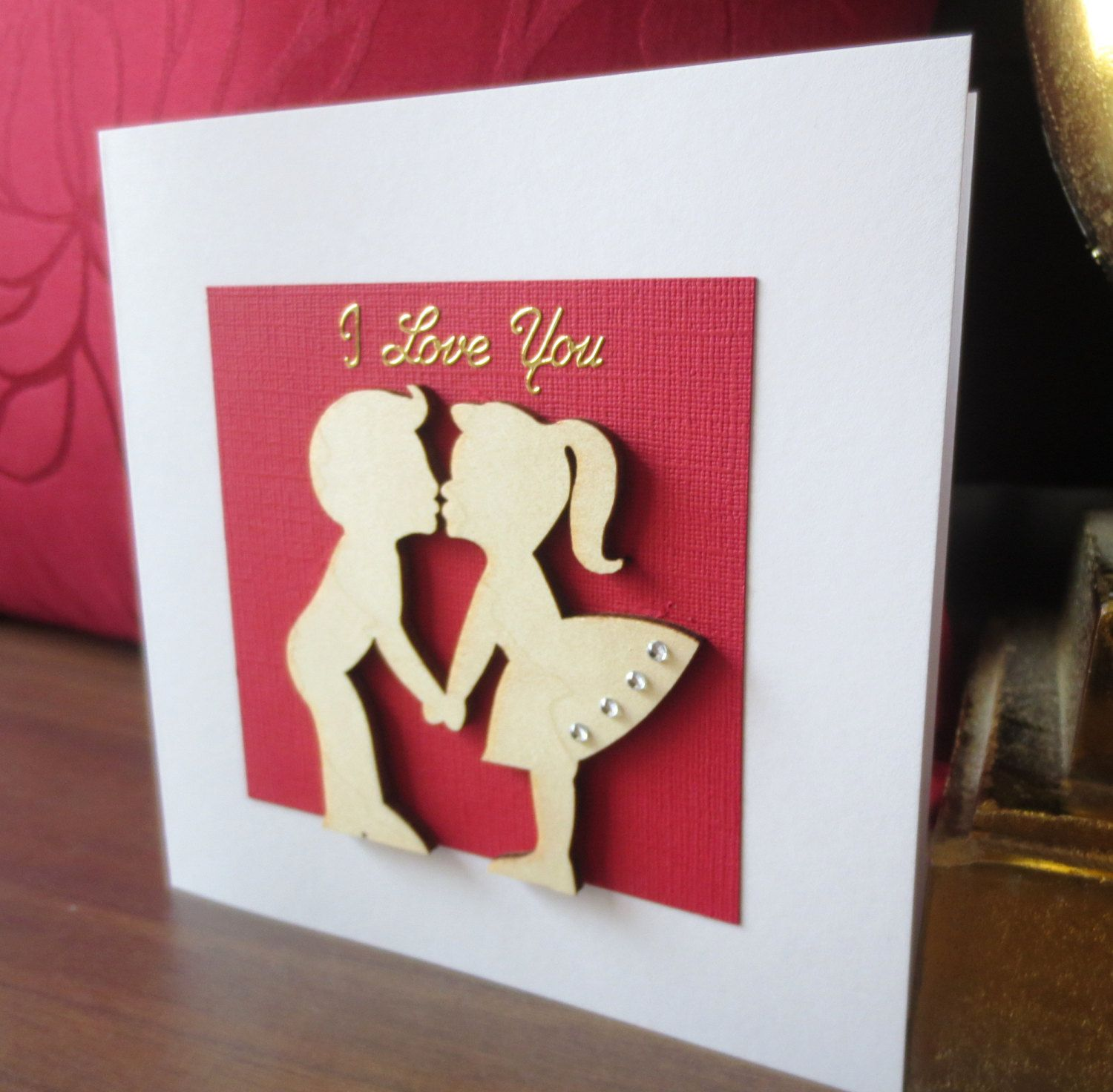 Valentines Card I Love You Card Handmade Groom To Bride To My