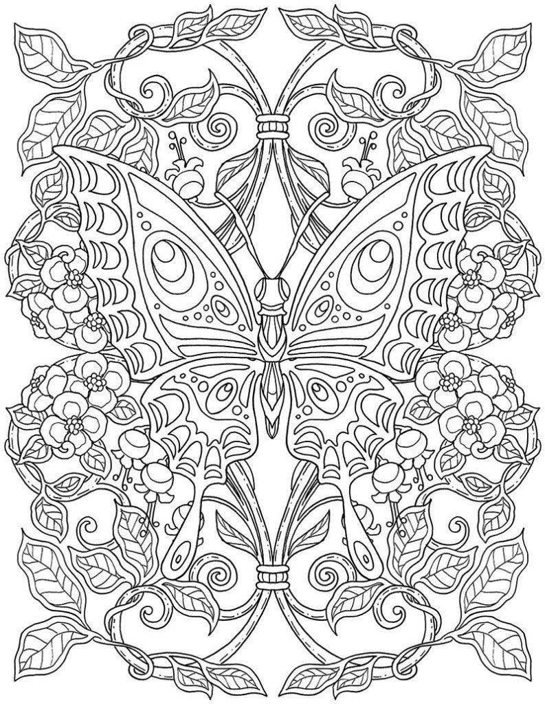 Coloring Pages For Adults Fntasy Mandala 793x1024 Detailed Coloring Pages Butterfly Coloring Page Mandala Coloring Pages [ 1024 x 793 Pixel ]