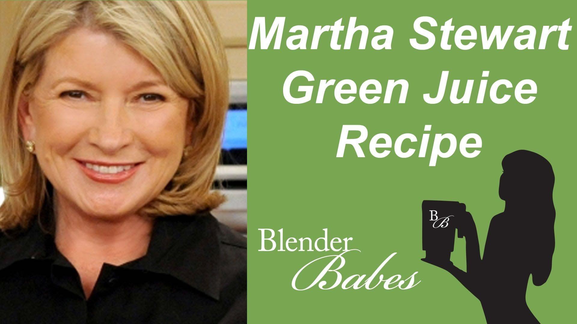 Marta Stewart's Green Juice. @BlenderBabes www.blenderbabes.com #vitamix #blendtec #recipe #martha #stewart #green #juice