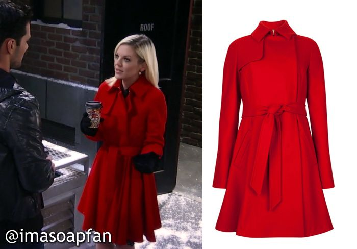 I'm a Soap Fan: Maxie Jones's Red Wool Coat - General Hospital ...