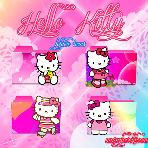 Rq Hello Kitty Folder Icons Pack By Marylovebloom On Deviantart Hello Kitty Folder Icon Kitty