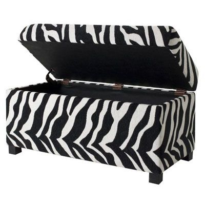 Storage and Zebra print. Love   A room for the girl too ...