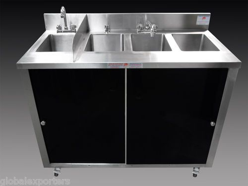 Concession s/s portable 3 compartment sink + hand sink. Commercial Kitchen  ...