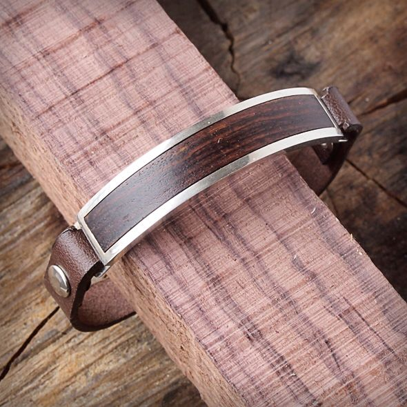 Handmade silver and wood bracelet. Pulsera artesana de cuero y madera. Adam Ballester.