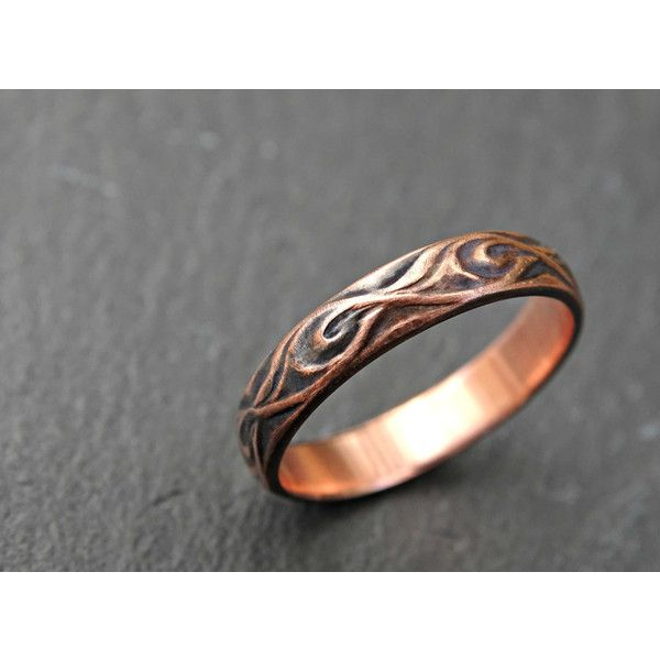 textured copper ring medieval wedding ring copper wedding band 72 - Medieval Wedding Rings