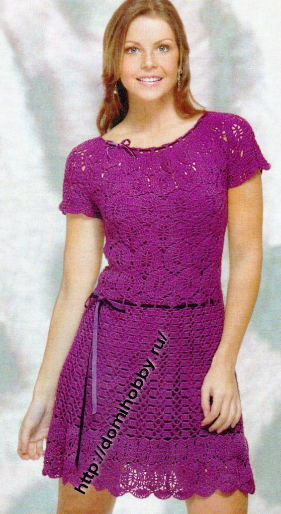 Lace Dress Free Crochet Pattern Crochet Pinterest Free Crochet