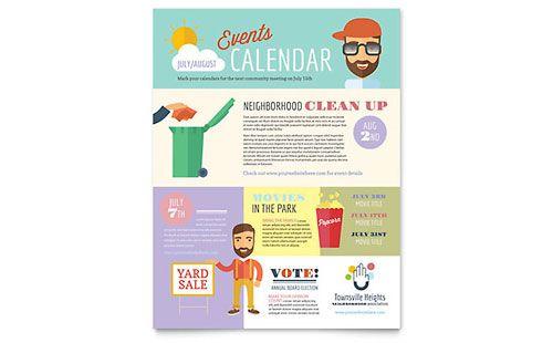 Homeowners Association - Flyer Template HOAs Pinterest Flyer