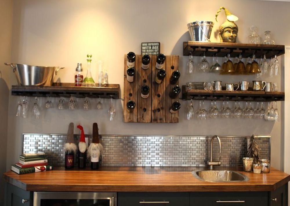 Credence de cuisine en mosaique inox modele MIXTE64 gallerie - hotte de cuisine  cm