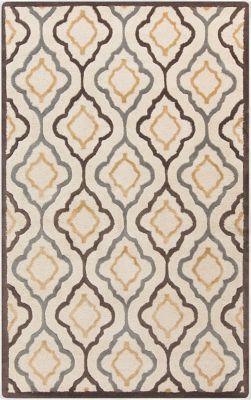 Surya Modern Classics Geometric 9 X 13 Area Rug In Khaki Wool