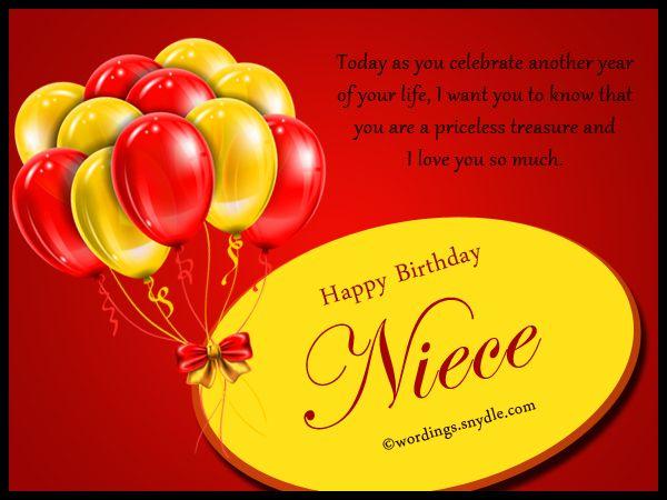 Niece Birthday Messages Happy Birthday Wishes for Niece Wordings – Happy Birthday Greetings for Niece