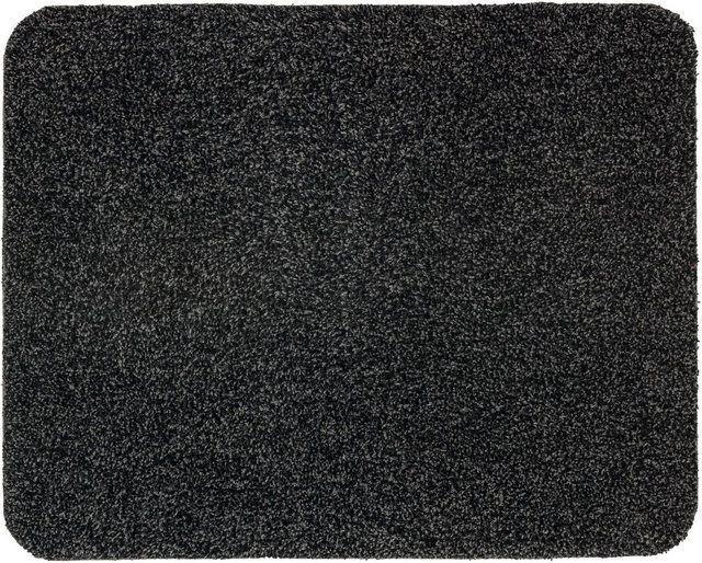 Maßangaben Breite , 75 cm, |Länge , 130 cm, |Höhe , 9 mm, |Konfektion , Fixmaß, |  Optik/Stil Design , uni, |  Ausstattung & Funktionen Fußbodenheizungsgeeignet , ja, |  Pflegehinweis Pflegehinweise , pflegeleicht, |  Produktdetails Anzahl Teile , 1 St., |Form , rechteckig, |Gewicht , 1,75 kg/m², |Herstellungsart , maschinell getuftet, |Rückenmaterial , Latex, |Materialzusammensetzung , Obermaterial: 100% Baumwolle, |Farbe , schwarz, |