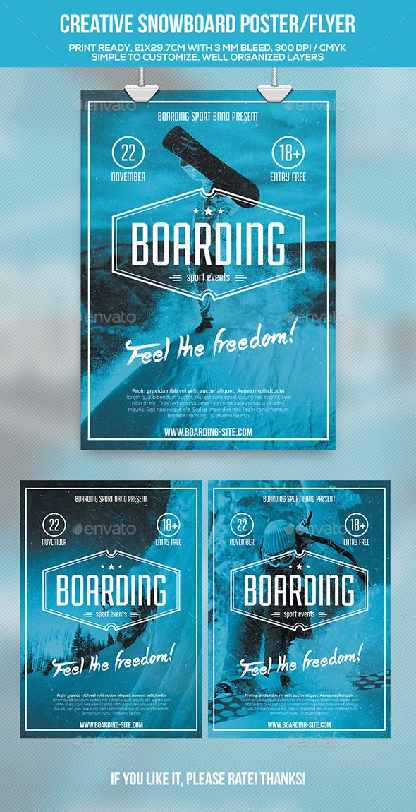 Winter Sports Ski or Snowboard Creative Poster / Flyer Template PSD #design Download: http://graphicriver.net/item/winter-sports-creative-posterflyer/9405386?ref=ksioks