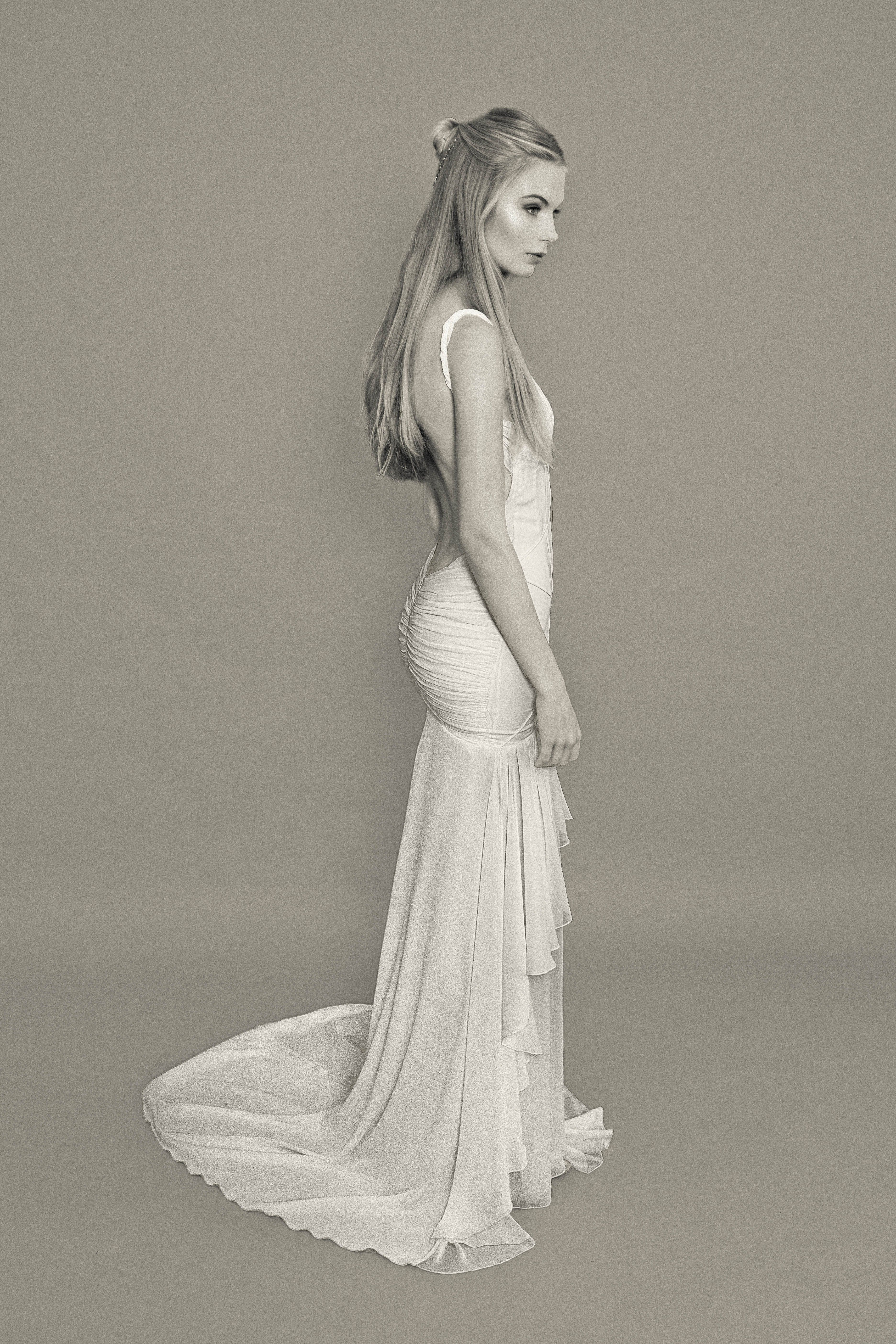 Katie may bridal gown cascades gown photo courtesy of