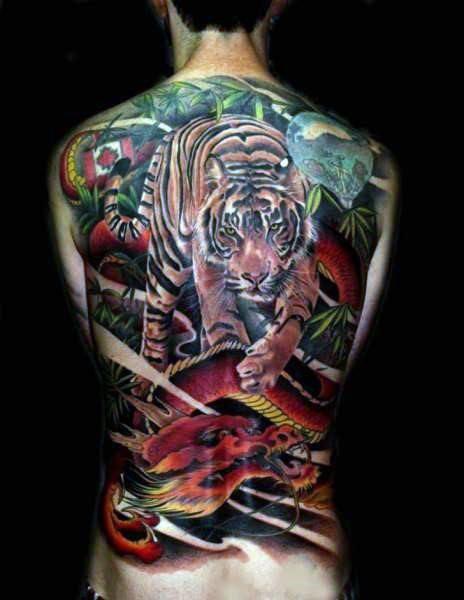 Henna Tattoo Für Jungs: 40 Tiger Dragon Tattoo Designs Für Männer