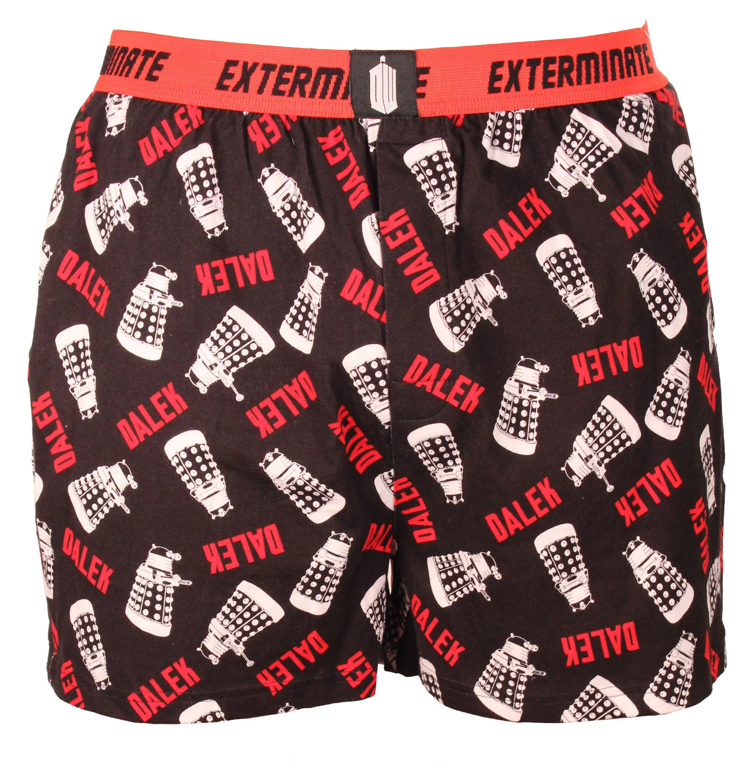 Doctor Who: Exterminate Dalek Boxer --  Keep your enemies close with these 100% Cotton Boxers.