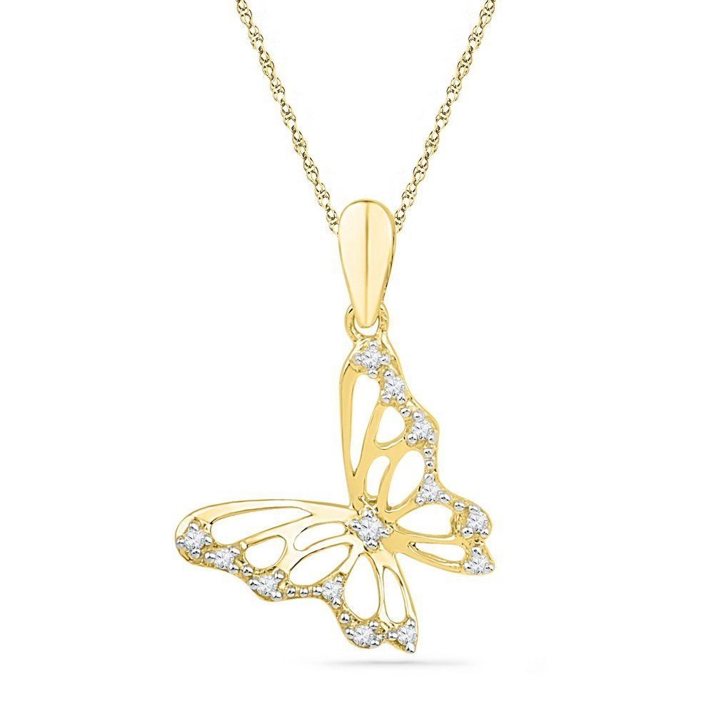 Roy rose jewelry k yellow gold womens round natural diamond