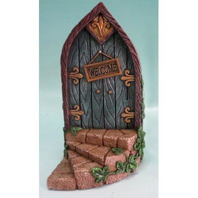 Hi-Line Gift Ltd. Fairy Mini Garden Door with Welcome Sign & Reviews | Wayfair