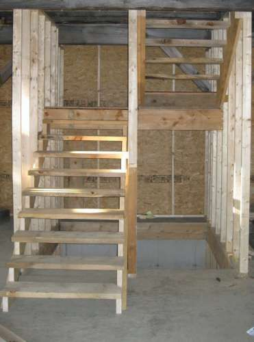 U Shaped Stair Layout With Storage Closet Underneath
