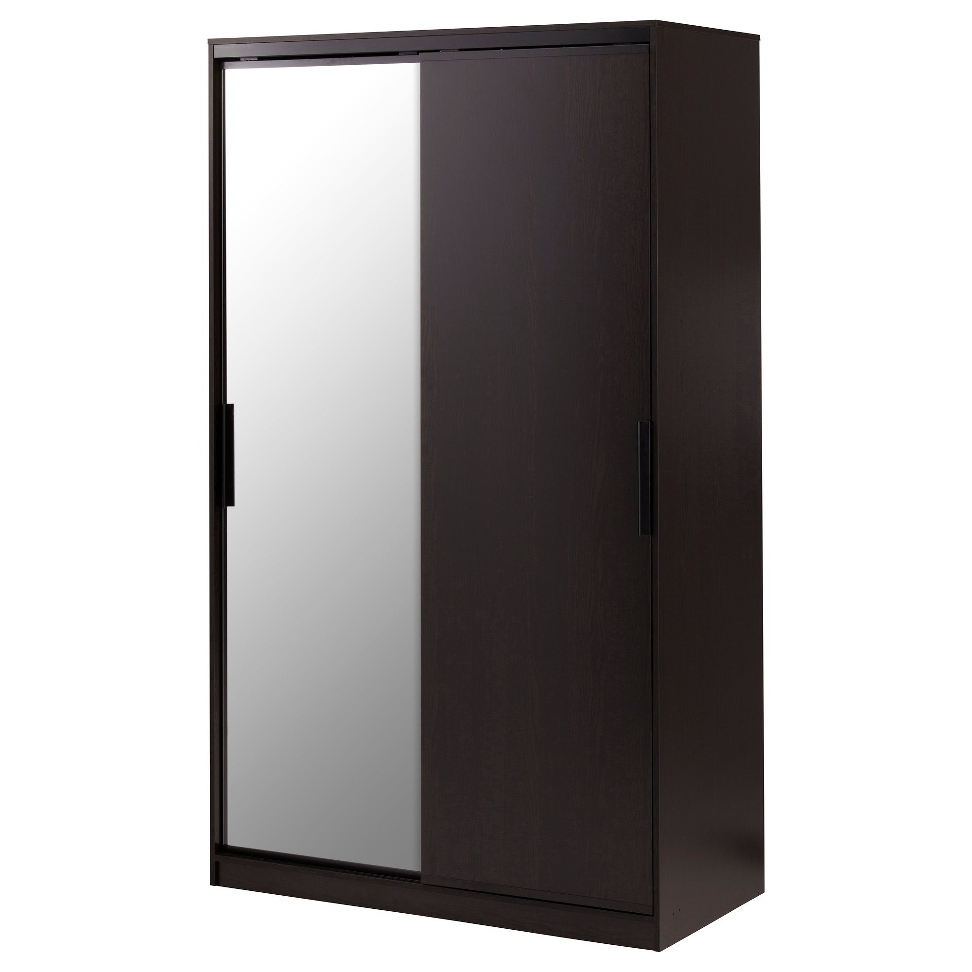 Ikea morvik wardrobe glass sliding doors allow more room for furniture because they donut take - Etagere cd ikea ...
