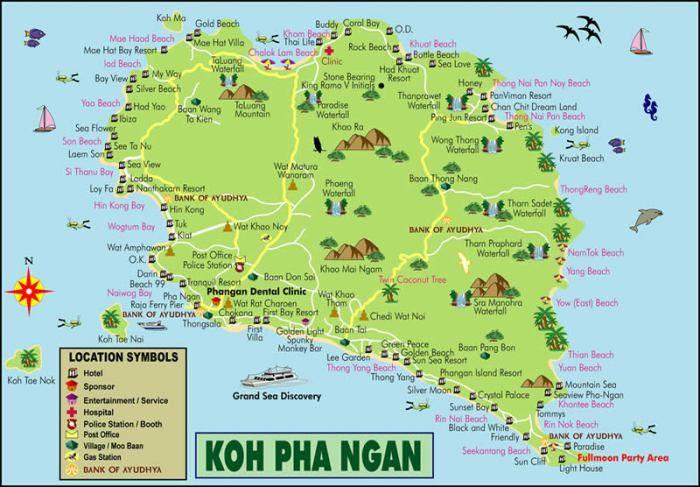 Koh Phangan Thailand Map.Koh Phangan Thailand Travel Thailand Koh Phangan Thailand