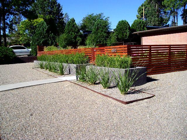 Mid Century Modern Courtyard Fences Mid Century Modern Landscape