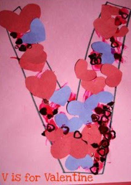 preschool crafts for kids v is for valentine preschool craft christian valentine crafts preschool - Christian Valentine Crafts