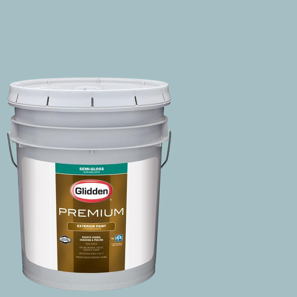Glidden Premium 5-gal. #HDGB37U Key Largo Bay Semi-Gloss Latex Exterior Paint