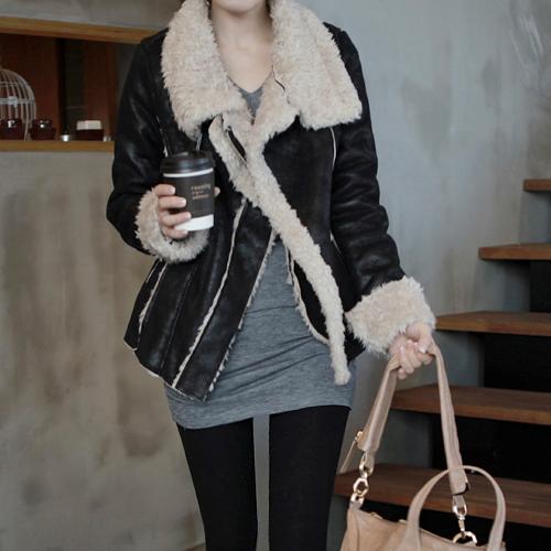 Lamb Fur Suede Jacket by Miamasvin