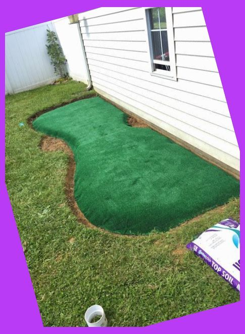 How to make a backyard putting green! DIY putting green ...