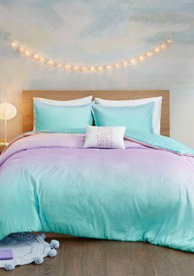 Mi Zone Glimmer Metallic Glitter Printed Reversible Duvet Cover Set In 2020 Comforter Sets Daybed Cover Sets Duvet Cover Sets